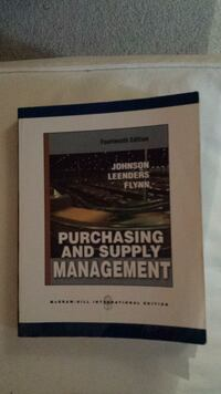 Purchasing and supply management 14th edition Vancouver