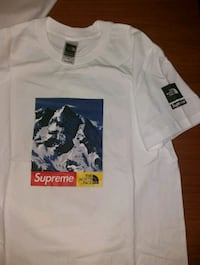 Maglietta Bianca Supreme x the North Face 7426 km