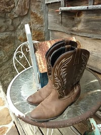brown filigree leather cowboy boots Russellville, 35654