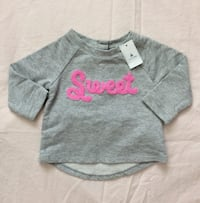 Babygap sweatshirt size 3-6 months- New with tags Mississauga, L5M 0C5
