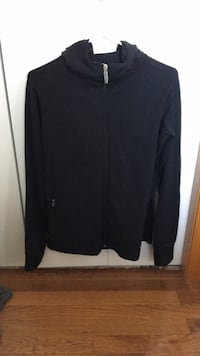 Black onetooth zip-up hoodie null, T0J 1Z0