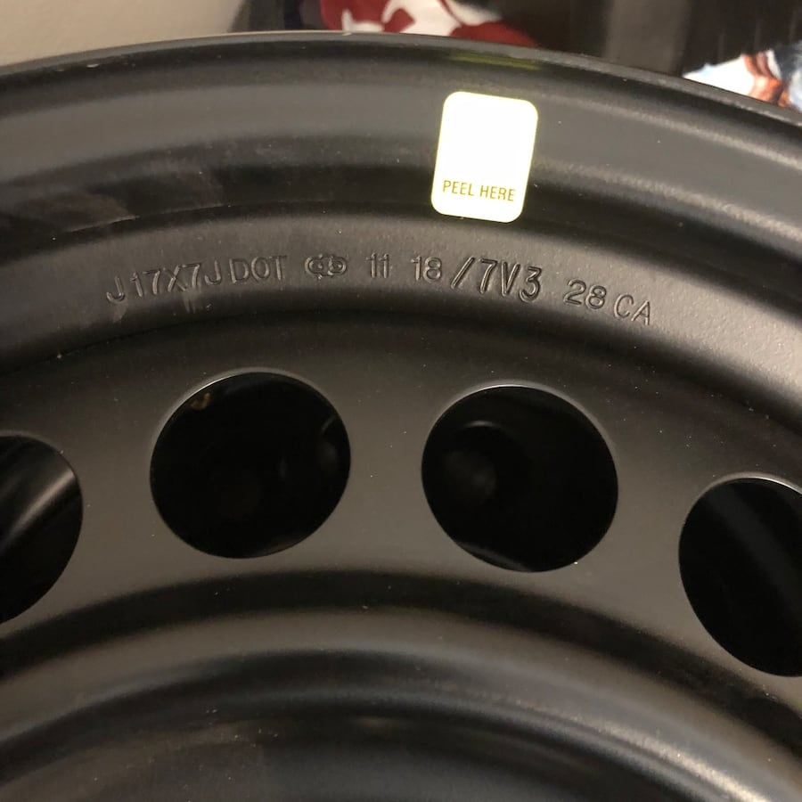 "Set of 4 17"" Steel Rims"