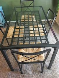 black metal framed glass top table Anchorage, 99504