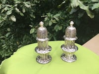 Vintage Silver Salt and Pepper Set with Original Lined Chest Kennesaw, 30144