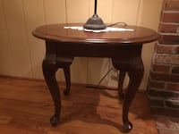 round brown wooden side table Potomac