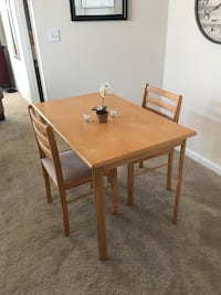 rectangular brown wooden table with two chairs Fairfax, 22033