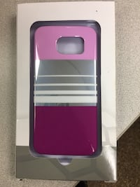 Purple, white, gray, and maroon stripe phone case Selma, 93662