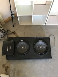 2 Kicker Comp R subwoofers and Pioneer Amp Tontitown, 72762