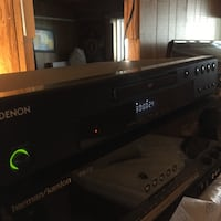black Denon stereo amplifier CALGARY