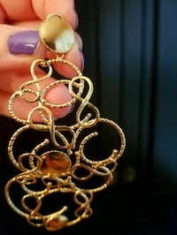 NEW 925 Silver/Gold Plated Earrings Bethesda