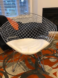 Modern designer wire frame metal chair