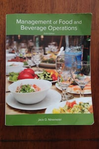 Management of Food and Beverage Operations 6th Ed. By Ninemeier Raymond, 39154
