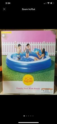 Sun squad familu pool with bench