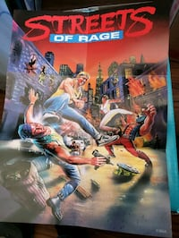 Streets of Rage/Golden Axe Double sided Poster