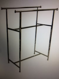 Double metal clothing rack, Chrome Boston, 02125
