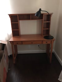Desk with matching file cabinet and open shelves   Hyattsville, 20782