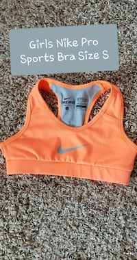 Orange/Grey Nike Pro Sports Bra Sioux Falls, 57106