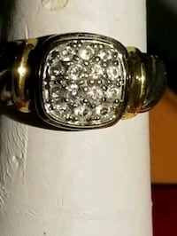 14kt and silver ring, designer piece