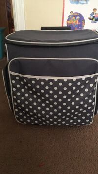 black and white polka-dot leather tote bag Perry, 31069