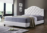 Tufted White Queen Bed frame NEW Baltimore, 21229