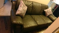 Brown leather couch Toronto, M5J 2Z6