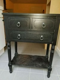 Side table with 3 drawers black Richmond Hill, L4C 6E3