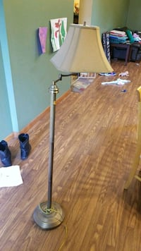 beige floor lamp