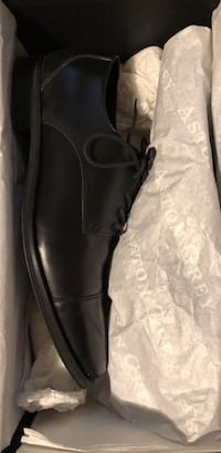 black leather slip on shoes Tysons