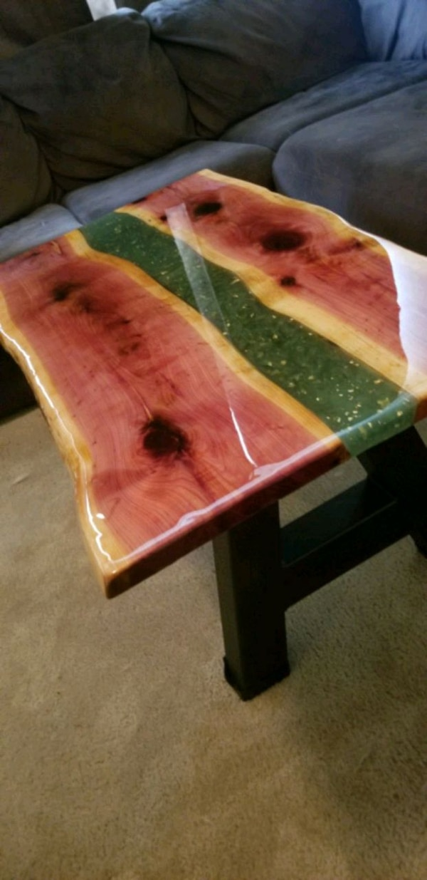 Gold rush live edge coffee table 4x2 5ft