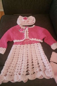toddler's pink and white knitted sweater Markham, L6B 1B5