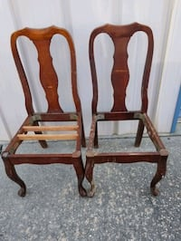 2 for 15.00 wood chairs  Gulfport, 39507
