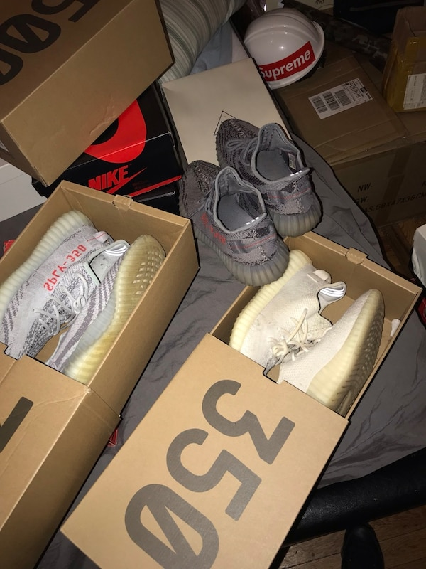 d10542197 Used Pair of white adidas yeezy boost 350 on box for sale in New ...