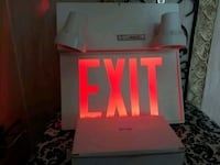 Never used Lumacell LED steel exit sign  Mississauga, L5C 3A5