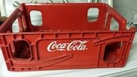 red and white Coca-Cola chest cooler
