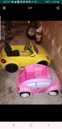Two power wheels cars for the price of 1