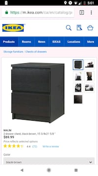 Black Ikea side table  Mississauga
