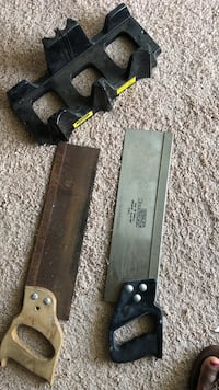 Starling handyman saw 14 inches by 358mm. The Stainless Steel one is five dollars the second one is three dollars Norfolk, 23523