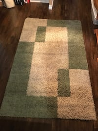 Area rug 5 x 8'. Recently professionally cleaned. Non-smoking house  Tiny, L0L 2T0