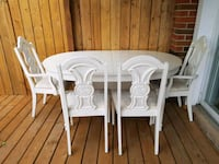 Antique Dinning Table Set with 6 Chairs