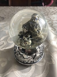 Silver Santa Clause Snow Globe and Music Box Citrus Heights, 95610