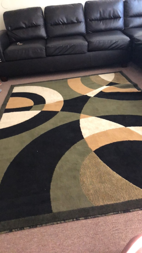 Used Olive Green Black Beige And Tan Area Rug For Sale In Lynwood
