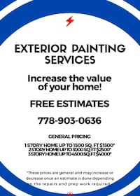 Exterior Painting Services Surrey, V3R 4G5