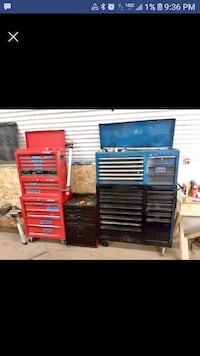 brown and blue tool cabinet Brandon, 57005