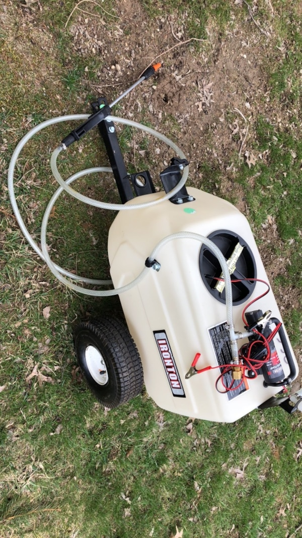 Ironton tow behind broadcast spot sprayer lawn care landscaping