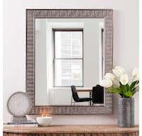 2 for the price of 1!!  Pair of Silver Herringbone Wall Mirror Vienna