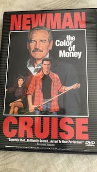 The Color of Money DVD Paul Newman-Tom Cruise