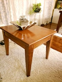 Solid wood side table set