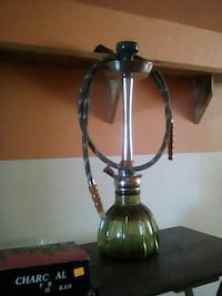 stainless steel and green translucent hookah New Westminster, V3M 2T8
