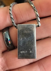 Lois Hill .925 Silver Rectangle Pendant Necklace! Great Price for Fine Jewelry Arlington, 22204