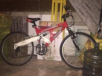 Red and white bike for $50.00
